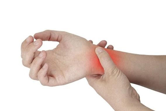 洲本接骨院手根管症候群ページ説明資料 手首の画像